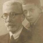 С отцом около 1936 года