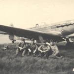 Под самолётом. Крайний справа. 1945